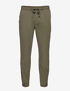 Slim Canvas Joggers with Gapflex - casual trousers - black moss