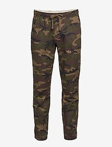 Slim Twill Joggers with GapFlex - pantalons décontractés - green camo