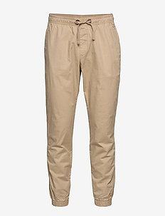 Slim Twill Joggers with GapFlex - pantalons décontractés - iconic khaki