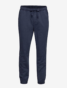Slim Twill Joggers with GapFlex - pantalons décontractés - new classic navy 2
