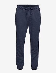 Slim Canvas Joggers with Gapflex - spodnie na co dzień - new classic navy 2