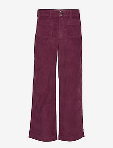 HIGH RISE SEAFARER WIDE LEG CORD - SECRET PLUM
