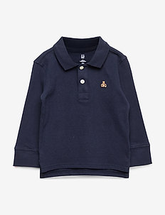 Toddler Long Sleeve Polo Shirt - TRUE INDIGO 340