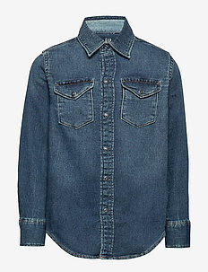 Kids Knit-Like Shirt - DARK WASH
