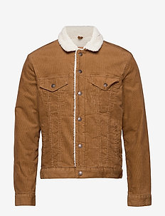 Sherpa-Lined Icon Corduroy Jacket - PALOMINO BROWN GLOBAL