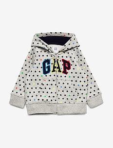 Baby Gap Logo Brannan Bear Hoodie Sweatshirt - hoodies - light heather grey b08