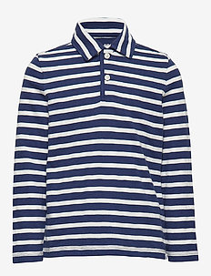Kids Stripe Polo Shirt - TAPESTRY NAVY