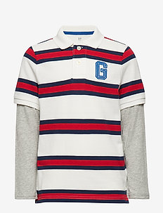 LS 2N1 POLO - NEW OFF WHITE STRIPE