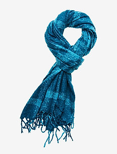 Cozy Boucle Fringe Scarf - TRULY TEAL