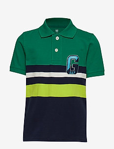 SS FRAN POLO - POLO GREEN STRIPE
