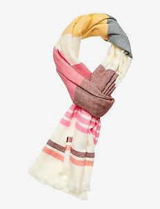 V-COZY SCARF - scarves - pink multi stripe