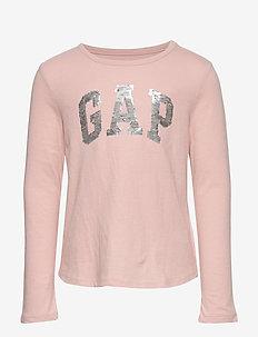 V-GAP FLP LS T - strik - pink standard