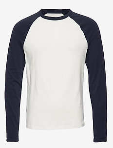Vintage Soft Raglan T-Shirt - WHITE/BLUE