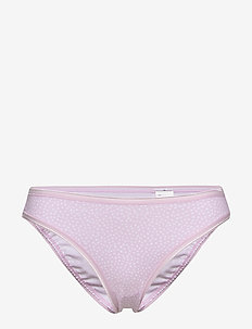 Stretch Cotton Bikini - slips - lilac painted dot