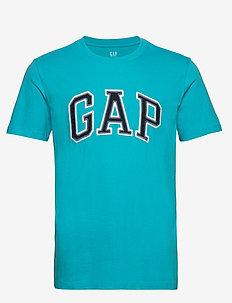 Gap Logo Crewneck T-Shirt - logo t-shirts - turquoise pool