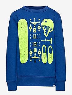 Kids Graphic Sweatshirt - BRILLIANT BLUE 2