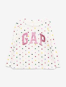 LS LOGO GR T - langærmede t-shirts - ivory frost