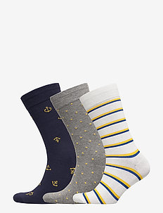 Crew Socks (3-Pack) - ankelstrømper - anchor rope