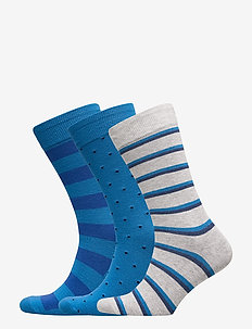 Crew Socks (3-Pack) - chaussette de cheville - blue multi dot