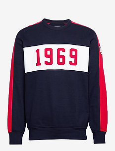 Gap Logo Pieced Crewneck Sweatshirt - TAPESTRY NAVY V2
