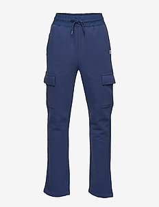 Kids French Terry Cargo Joggers - joggings - chrome blue