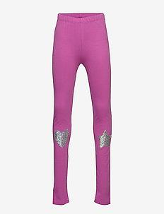 Kids Flippy Sequin Everyday Stretch Leggings - leggings - budding lilac