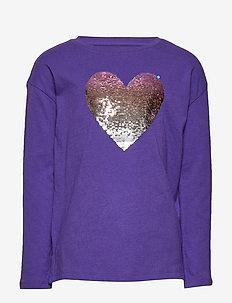 Kids Interactive Graphic T-Shirt - langærmede t-shirts - ultraviolet 18-3838 tc