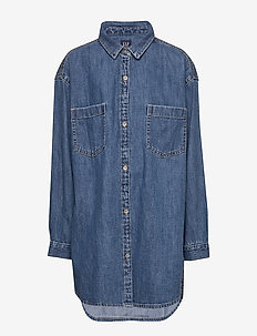 Kids Oversize Denim Shirt - DENIM 616