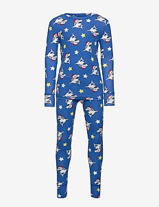 Kids Shark PJ Set - zestawy - bristol blue 2