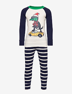 Kids Holiday Dino PJ Set - GREEN STREET