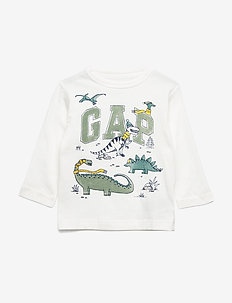 Toddler Gap Logo T-Shirt - manches longues - new off white
