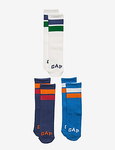 Kids Gap Logo Tube Socks (3-Pack) - MULTI