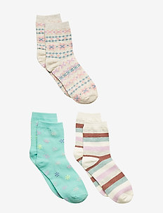 Kids Snowflake Crew Socks (3-Pack) - MULTI