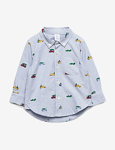 Toddler Truck Oxford Shirt - BUXTON BLUE