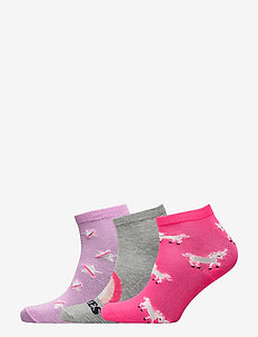Kids Rainbow Crew Socks (3-Pack) - IVORY FROST