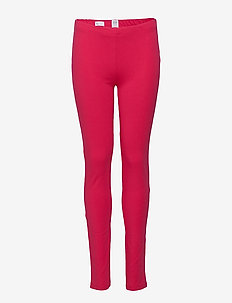 Kids Leggings in Stretch Jersey - leggings - bright claret