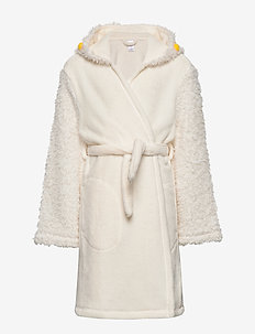 Kids Llama Robe - bathrobes - ivory frost