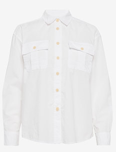 Camp Shirt - langærmede skjorter - optic white
