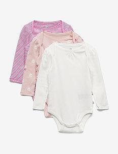 Baby Llama Bodysuit (3-Pack) - PINK CAMEO