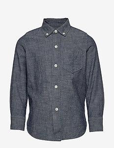 Kids Chambray Shirt - chemises - indigo chambray