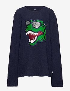 Kids Flippy Sequin T-Shirt - langærmede t-shirts - tapestry navy v2