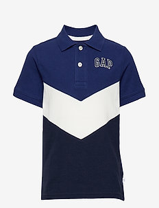 Kids Gap Logo Short Sleeve Polo Shirt - DEEP COBALT