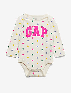 Baby Gap Logo Bodysuit - IVORY FROST