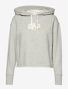 Vintage Soft Gap Mini Logo Pullover Hoodie - LIGHT HEATHER GREY V6