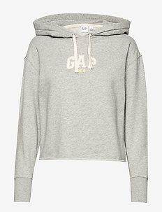 Vintage Soft Gap Mini Logo Pullover Hoodie - hættetrøjer - light heather grey v6