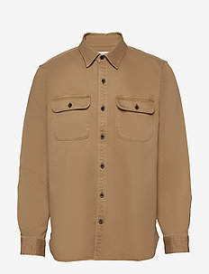 Lightweight Shirt Jacket - basic shirts - khaki twill