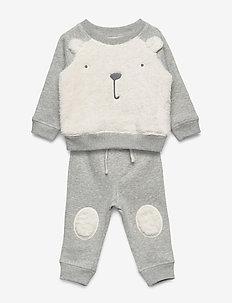 V-B COZY BEAR SET - sweats - light heather grey b08