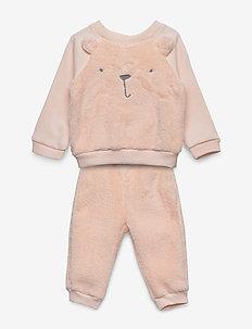 V-G COZY BEAR SET - sweatshirts - pink blush