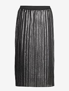 V-LUREX PLEATED SKIRT - jupes midi - silver