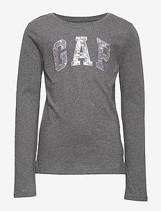 V-FR LS LOGO T - langærmede t-shirts - heather grey b50